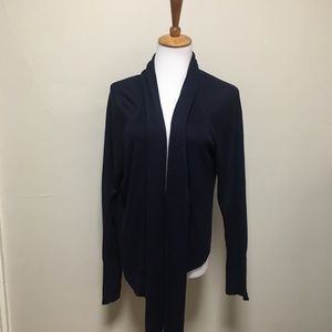 Chico's Blue Rayon Open Cardigan 2